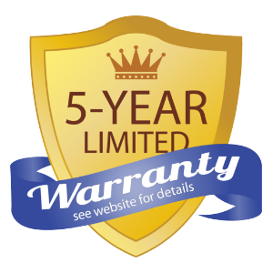 Limited 5 Year Warranty